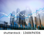 double exposure financial... | Shutterstock . vector #1368696506