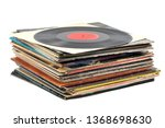 Stack Of Vinyl Records On A...