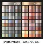 metallic gold  silver  bronze... | Shutterstock .eps vector #1368700133