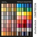 metal gradient. color set.... | Shutterstock .eps vector #1368700136
