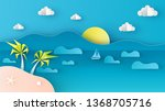 illustration of sea view with... | Shutterstock .eps vector #1368705716