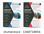 corporate business flyer poster ... | Shutterstock .eps vector #1368718856