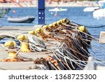 a mooring bollard entwined with ... | Shutterstock . vector #1368725300