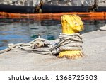 a mooring bollard entwined with ... | Shutterstock . vector #1368725303