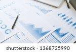 businessman working data... | Shutterstock . vector #1368725990
