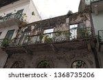 house ruin in casco viejo the...   Shutterstock . vector #1368735206