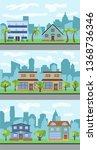 set of three illustrations of... | Shutterstock . vector #1368736346