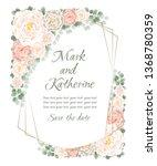 wedding invitation template.... | Shutterstock .eps vector #1368780359