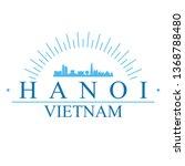 hanoi vietnam. banner design.... | Shutterstock .eps vector #1368788480