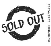 sold out graphic mark stamp....   Shutterstock .eps vector #1368791933