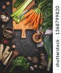 various organic farm vegetables ... | Shutterstock . vector #1368799820