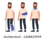 set of sad character man with... | Shutterstock .eps vector #1368823949