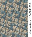 seamless brocade floral golden... | Shutterstock . vector #1368841553