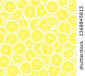 citrus seamless background.... | Shutterstock .eps vector #1368845813