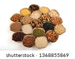 grains are nutritious on a... | Shutterstock . vector #1368855869