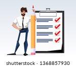 flat design illustration goal... | Shutterstock .eps vector #1368857930