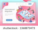 isometric flat landing page... | Shutterstock . vector #1368873473