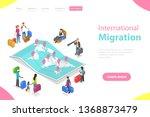 isometric flat landing page...   Shutterstock . vector #1368873479