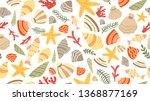 sea theme seamless pattern...   Shutterstock .eps vector #1368877169