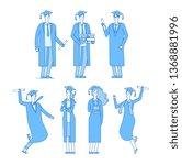 graduate students character.... | Shutterstock .eps vector #1368881996