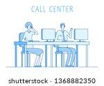 customer service concept.... | Shutterstock .eps vector #1368882350