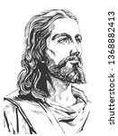 Jesus Christ  Graphic Portrait. ...
