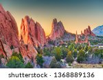 Garden of the Gods, Colorado Springs, Colorado, USA. - stock photo