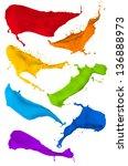 paint splash collection ... | Shutterstock . vector #136888973