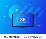 modern abstract screen tv with... | Shutterstock .eps vector #1368903980