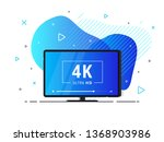 modern abstract screen tv with... | Shutterstock .eps vector #1368903986