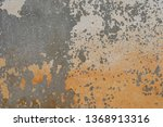 old concrete wall weathered ... | Shutterstock . vector #1368913316
