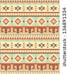 seamless traditional aztec... | Shutterstock .eps vector #136891334