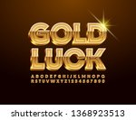vector card gold luck with... | Shutterstock .eps vector #1368923513