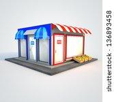 icon of the facade of a shop... | Shutterstock . vector #136893458