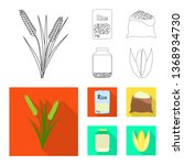 isolated object of crop and... | Shutterstock .eps vector #1368934730