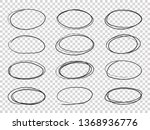 doodle circles. hand drawn... | Shutterstock . vector #1368936776