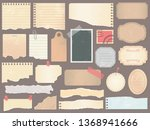 scrapbook papers. vintage... | Shutterstock .eps vector #1368941666
