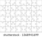 Puzzles Grid Template. Jigsaw...