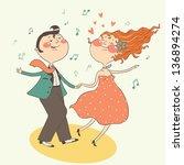 Illustration Of Swing Dancing...