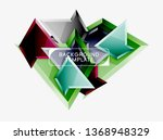 minimal geometrical triangles... | Shutterstock .eps vector #1368948329