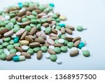 pile  of colorful pills  ... | Shutterstock . vector #1368957500