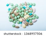 pile  of colorful pills  ... | Shutterstock . vector #1368957506