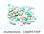 pile  of colorful pills  ... | Shutterstock . vector #1368957509