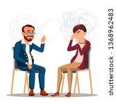 patient at psychiatry... | Shutterstock .eps vector #1368962483