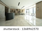 hotel lobby interior with...   Shutterstock . vector #1368962570