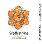 svadhisthana   the second... | Shutterstock .eps vector #1368968726