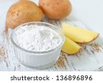 starch and potato | Shutterstock . vector #136896896