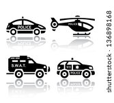 Set Of Transport Icons   Polic...