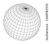 Wired Sphere Frame Illustratio...