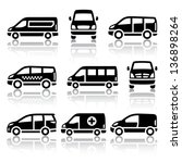 transport icons   van  vector... | Shutterstock .eps vector #136898264